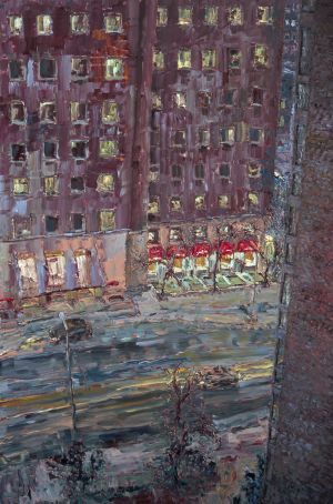 <em>Rogers on Bloor</em>, 2007, oil on canvas, 72 x 48 inches